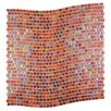 """Abolos Galaxy Wavy 0.31"""" x 0.31"""" Glass Mosaic Tile in Red"""