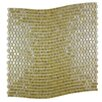 """Abolos Galaxy Wavy 0.31"""" x 0.31"""" Glass Mosaic Tile in Brushed Gold"""