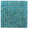 "Abolos Ecologic 0.38"" x 0.38"" Glass Mosaic Tile in Royal Blue"