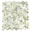 "Abolos Hexagon 11.33"" x 10.75"" Glass Mosaic Tile in Champagne"
