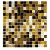 "Abolos Venus 0.75"" x 0.75"" Glass Mosaic Tile in Sweet Honey"