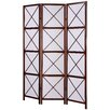 "Roundhill Furniture 71"" x 51"" Screen 3 Panel Room Divider"