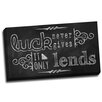 Picture it on Canvas Chalk Quotes Luck Chalkboard Quote Textual Art on Wrapped Canvas