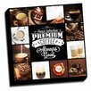 Picture it on Canvas Coffee Lovers Premium Coffee Collage Colorful Textual art on Wrapped Canvas
