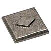 "Premier Hardware Designs Metropolitan Art Deco 2"" x 2"" Pewter Hand-Painted Tile in Natural Pewter"