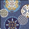 Midwest Art and Frame Mediterranean Blue II by Veronique Charron Graphic Art on Wrapped Canvas