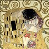 Midwest Art and Frame The Kiss by Gustav Klimt Graphic Art on Wrapped Canvas