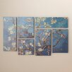 "Bungalow Rose ""Almond Blossoms"" by Vincent Van Gogh 6 Piece Painting Print on Wrapped Canvas Set"