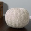 Bungalow Rose Hand Knitted Traditional Pouf Ottoman