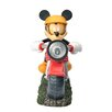 Woods International Disney Garden LED Mickey on Motorcycle-Solar Statue