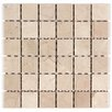 "Seven Seas 2"" x 2"" Square Mosaic Polished in Crema Marfil"