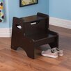 KidKraft 2-Step Manufactured Wood Step Stool