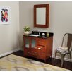 Ronbow Contempo Juno Cinnamon Vanity Base w/ Single Hole Faucet Drillings and Left Side Door