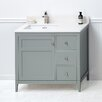 "Ronbow Briella 36"" Bathroom Vanity Cabinet Base in Ocean Gray"