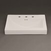 """Ronbow Evin 24"""" Ceramic Sinktop with 8"""" Widespread Faucet Hole in Cool Gray"""