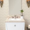 """Ronbow WideAppeal™ 31"""" x 22"""" Marble Vanity Top in Cream Beige - 2"""" Thick"""