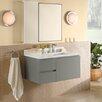 "Ronbow Vanessa 36"" Single Wall Mount Bathroom Vanity Set with Mirror"
