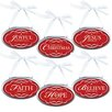 Lighthouse Christian Products 6 Piece Christmas Plaque Ornaments Set