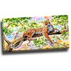 Design Art Watchful Cheeta Graphic Art on Gallery Wrapped Canvas