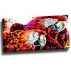 Design Art Macaw Parrot Duo Graphic Art on Wrapped Canvas