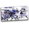 Design Art Football Running Back to Score Graphic Art on Wrapped Canvas