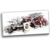 Design Art American Hot Rod Car Painting Print on Wrapped Canvas