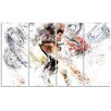 Design Art Basketball Pick and Roll 4 Piece Graphic Art on Wrapped Canvas Set