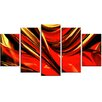 Design Art Fire Lines 5 Piece Graphic Art on Wrapped Canvas Set