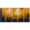 Design Art Orange Be Square 5 Piece Painting Print on Wrapped Canvas Set