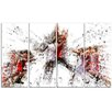 Design Art Basketball Jump Shot 4 Piece Graphic Art on Wrapped Canvas Set