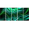 Design Art Emerald Energy Green 5 Piece Graphic Art on Wrapped Canvas Set