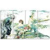 Design Art Baseball In Action 4 Piece Graphic Art on Wrapped Canvas Set
