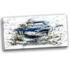 Design Art Abstract Muscle Car Graphic Art on Wrapped Canvas