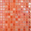 "Kellani Lux Eco 12.375"" W x 12.375"" L Glass Mosaic in Orange Blossom"
