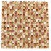"Kellani Paragon 12"" x 12"" Glass Mosaic Tile in Nutmeg Mixed"