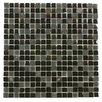"""Kellani Paragon 12"""" x 12"""" Glass Mosaic Tile in Basalt Mixed"""