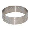 De Buyer Straight Edge Perforated Stainless Steel Tart Ring