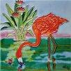 Continental Art Center Flamingo Tile Wall Decor