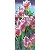 Continental Art Center Tulips Tile Wall Decor