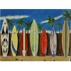 Continental Art Center 7 Surfboards Tile Wall Decor