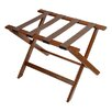 Central Specialties LTD Deluxe Wood Luggage Rack with Strap