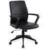 Leick Furniture High-Black Office Chair with Arms