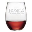 Home is Where the Anchor Drops Wine Glass (Set of 4)