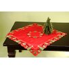 Wimpole Street Creations Fine Linen Holiday O'Christmas Tree Square Table Topper