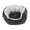 DanaZoo Textured Fleece Cuddler Dog Bed
