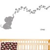 Decal the Walls Elephant Bubbles Nursery Room Removable Wall Decal