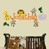 Decal the Walls Personalized Jungle Theme Wall Decal