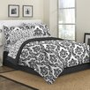 First At Home Marcheline Damask 6 Piece Bed in a Bag Set