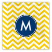 Boatman Geller Chevron Single Initial Fabric Coaster (Set of 4)