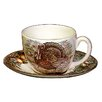 Cuthbertson Turkey Teacup and Saucer (Set of 4)